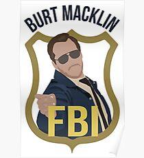 Burt Macklin - Parks and Recreation Poster