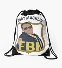 Burt Macklin - Parks and Recreation Drawstring Bag