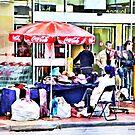 Coca Cola Umbrella - Market Day - Altona by © Helen Chierego