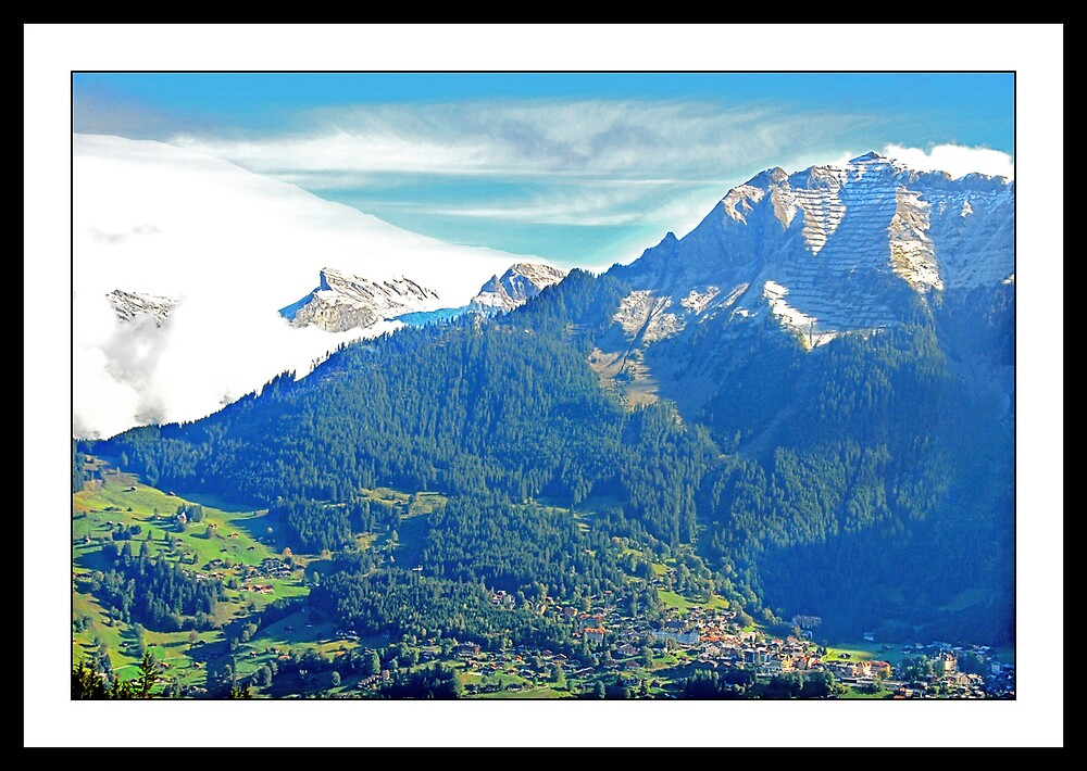 On the way to Grindelwald (Switzerland) by satwant