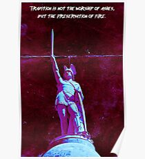 Tradition - Fashwave - Vaporwave Poster