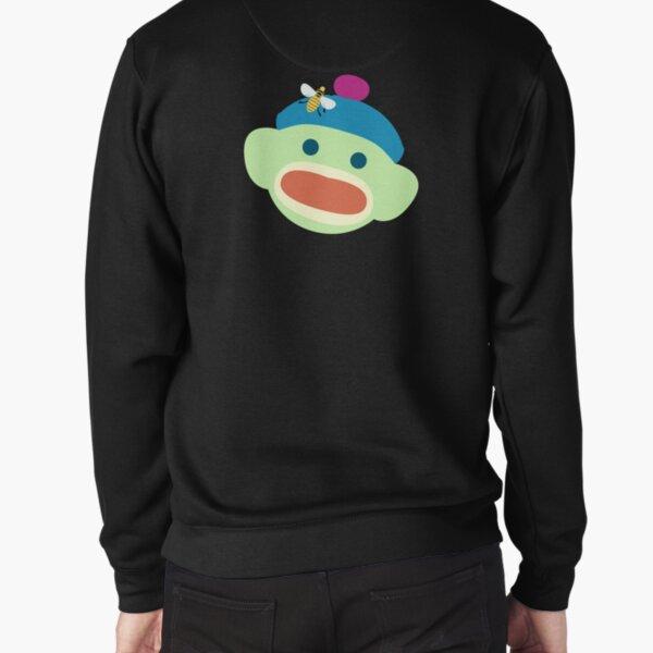 Sock Monkey With Bee Pullover Sweatshirt