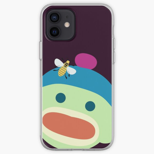 Sock Monkey With Bee iPhone Soft Case
