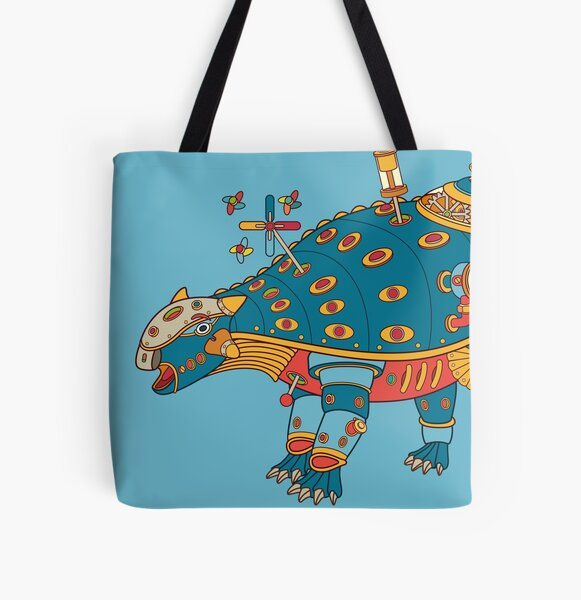 Dinosaur, from the AlphaPod collection All Over Print Tote Bag