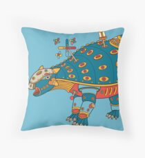 Dinosaur, from the AlphaPod collection Throw Pillow