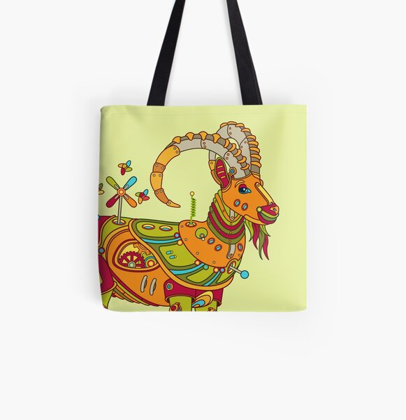 Ibex, from the AlphaPod collection All Over Print Tote Bag