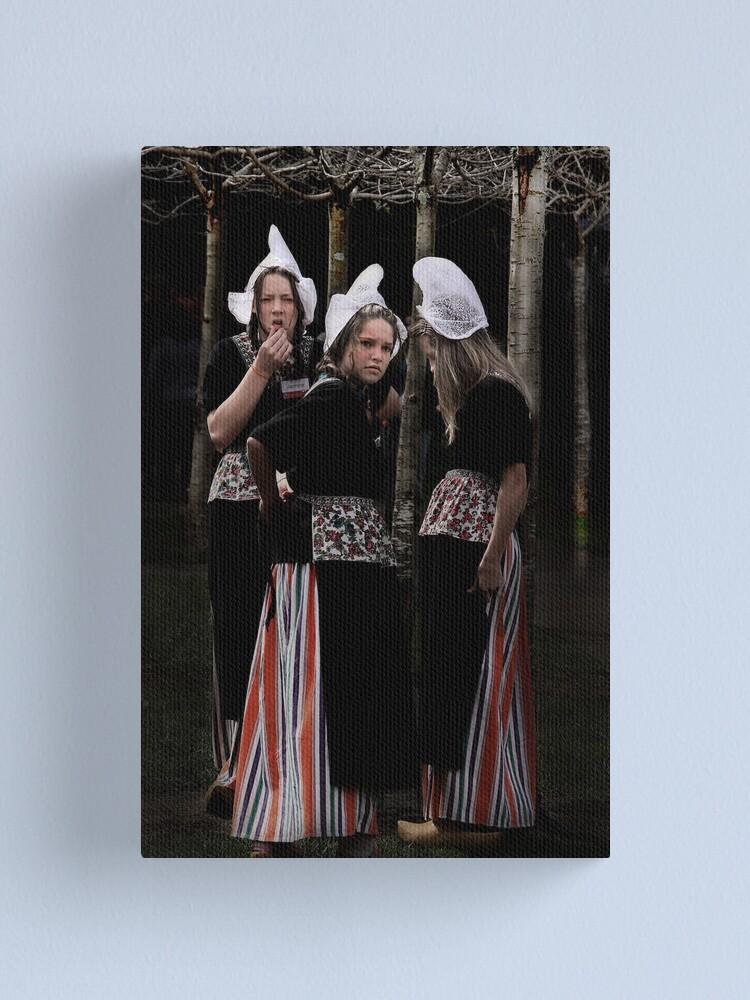 Alternate view of Three dutch girls Canvas Print