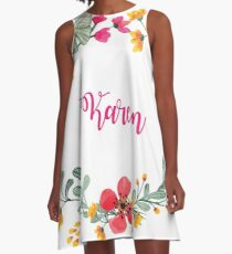 Personalised for Karen A-Line Dress