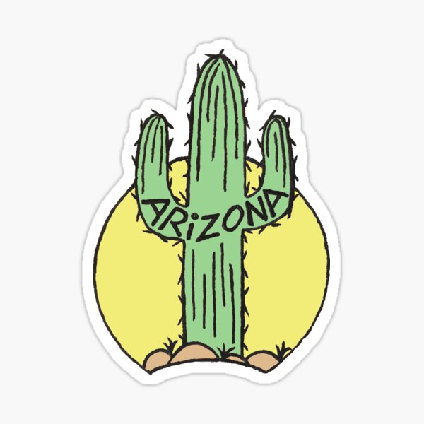Arizona Cactus Faded Sticker