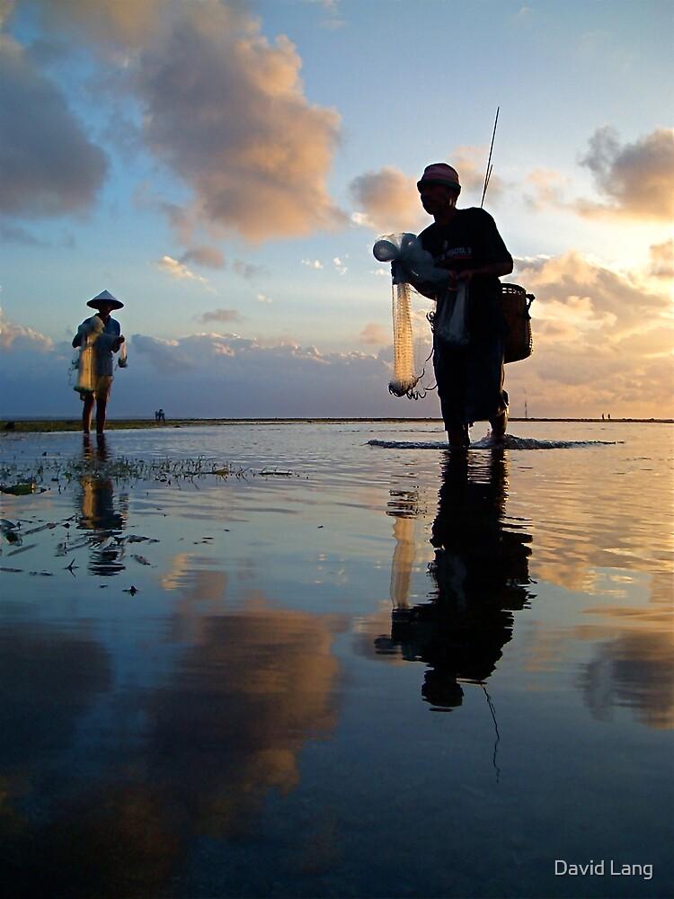 Balinese Fishermen at Sanua Dawn 2 by David Lang