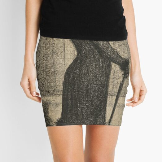 Woman Strolling by Georges Seurat Mini Skirt