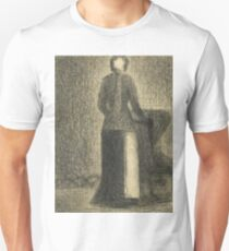 Nurse with a Child's Carriage by Georges Seurat Unisex T-Shirt