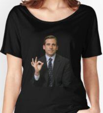michael scott gang sign  Women's Relaxed Fit T-Shirt