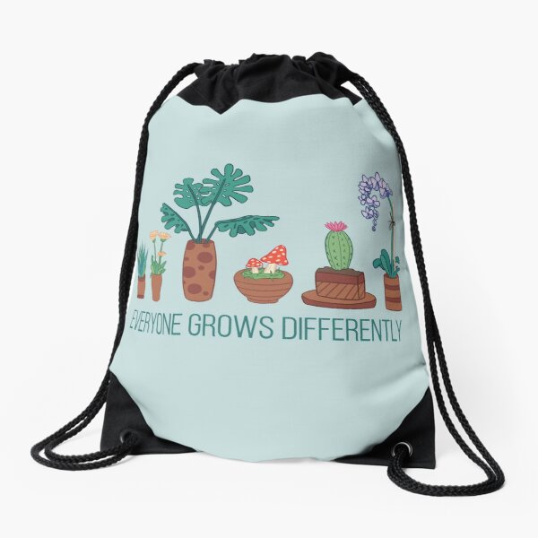 Everyone Grows Differently Drawstring Bag