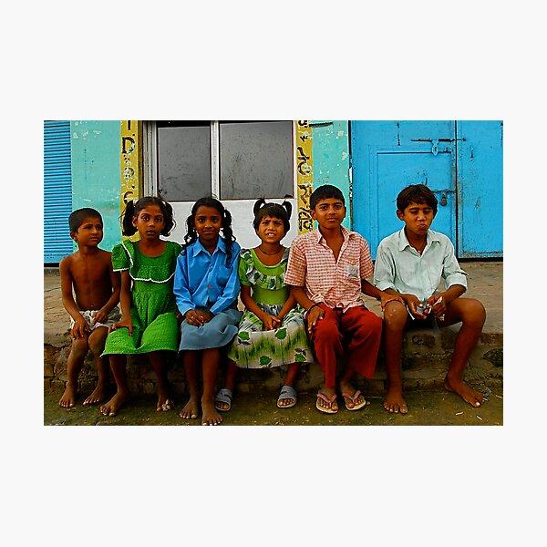 Indian School Children Photographic Print