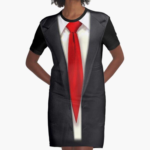 Blood Tie, Black Suit Graphic T-Shirt Dress