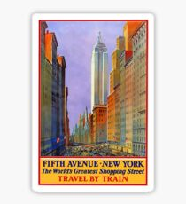 Vintage Travel Poster – 5th Avenue, New York Sticker