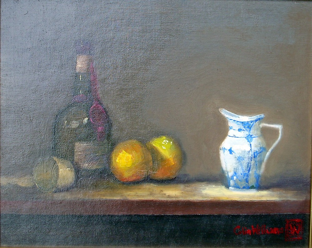 Cointreau and Copenhagen Blue  (Original oil painting) by ColinWilliams