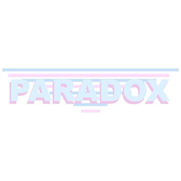 Blue + Pink Paradox Logo by -paradox-