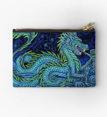 Chinese Azure Dragon Zipper Pouch