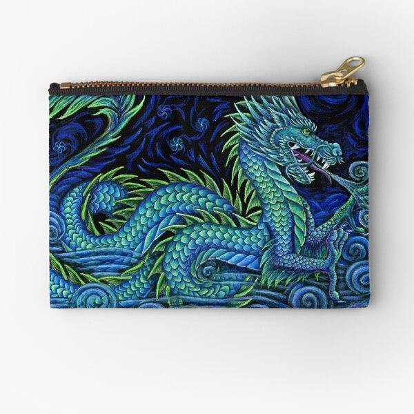 Chinese Azure Dragon Zipper Pouch