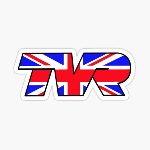 TVR Logo Union Jack Sticker
