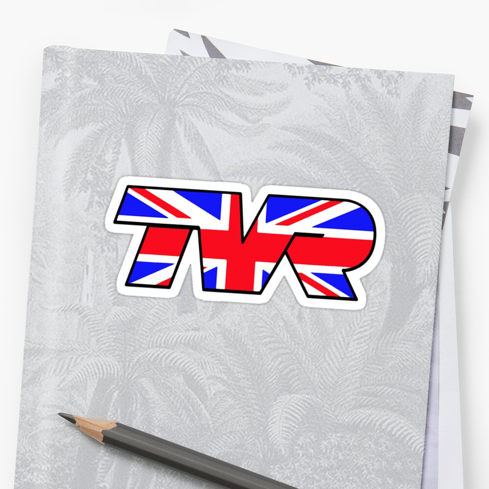 TVR Logo Union Jack Sticker