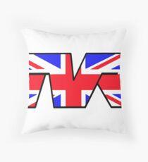 TVR Logo Union Jack Throw Pillow
