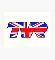 TVR Logo Union Jack Art Print