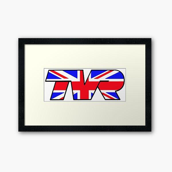 TVR Logo Union Jack Framed Art Print