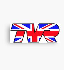 TVR Logo Union Jack Canvas Print