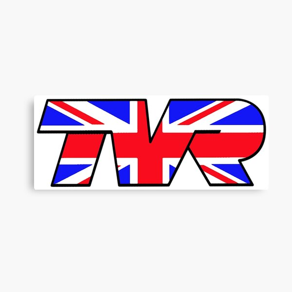 TVR Logo Union Jack Canvas Print