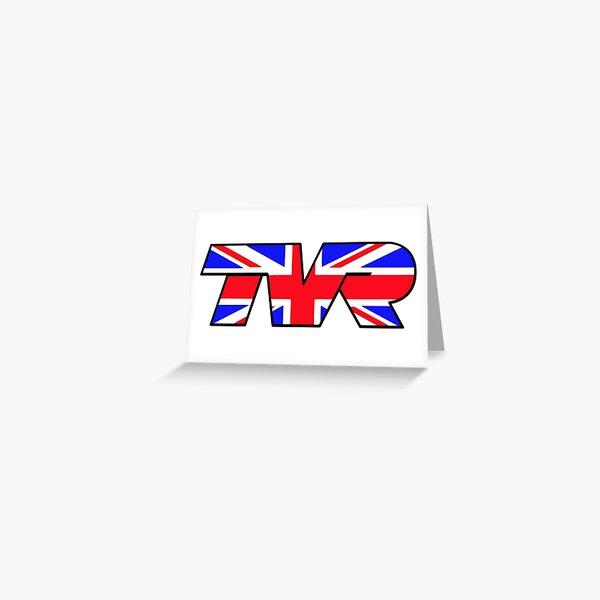 TVR Logo Union Jack Greeting Card