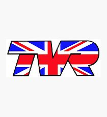 TVR Logo Union Jack Photographic Print