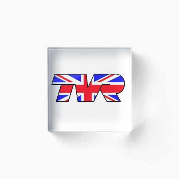 TVR Logo Union Jack Acrylic Block