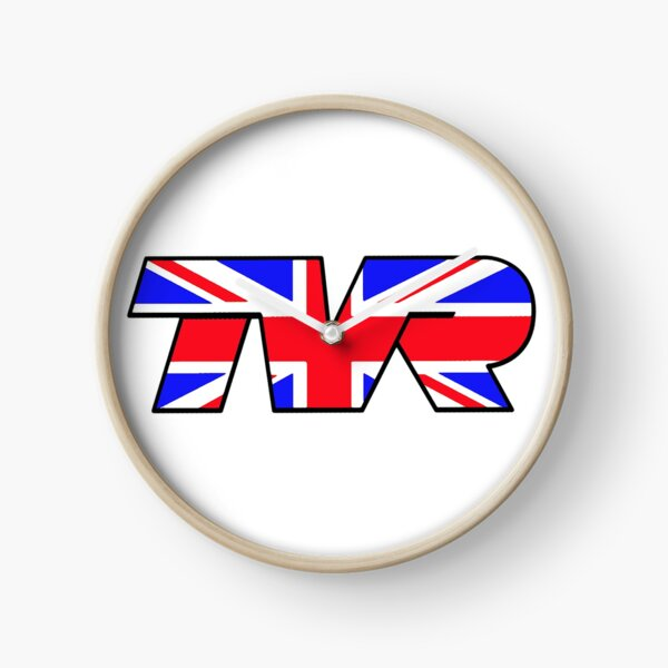 TVR Logo Union Jack Clock
