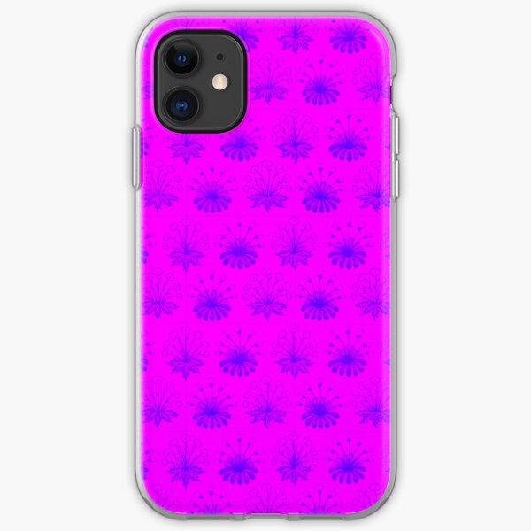Pink and Purple Abstract Design  iPhone Soft Case