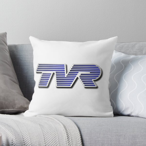 TVR Logo Colorful Throw Pillow