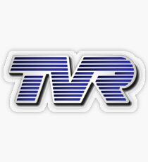 TVR Logo Colorful Transparent Sticker