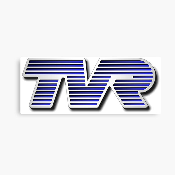 TVR Logo Colorful Canvas Print
