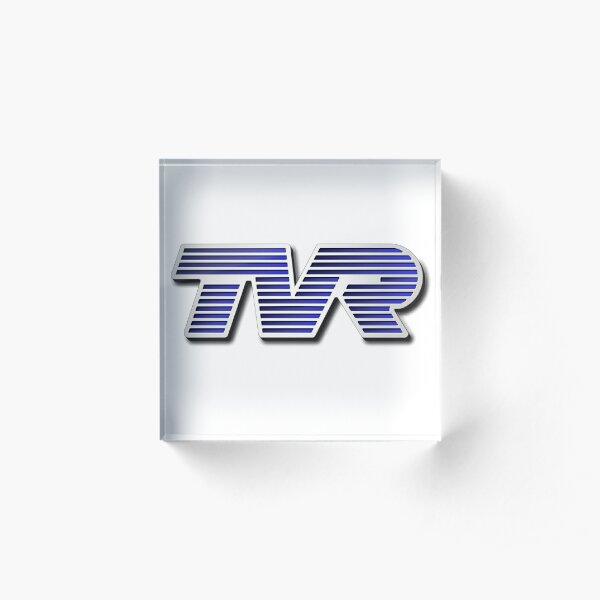TVR Logo Colorful Acrylic Block