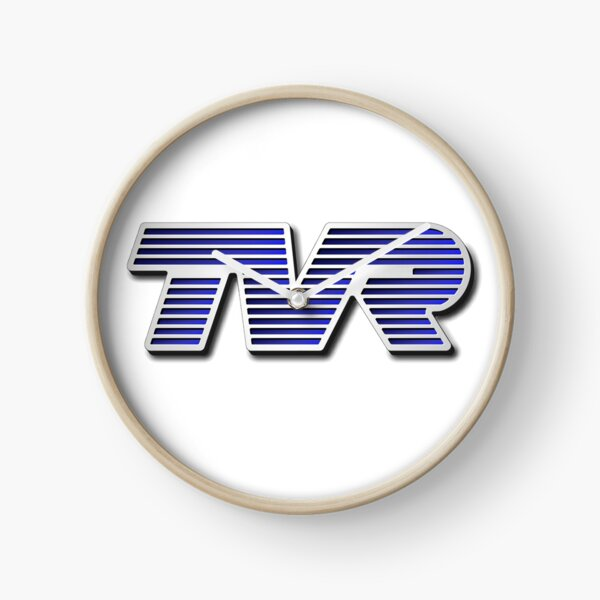 TVR Logo Colorful Clock