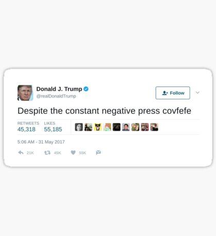 Trump Tweet - Cofefe Sticker