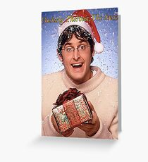 Dashing Theroux The Snow - Louis Theroux Christmas Card Greeting Card