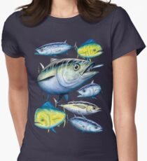 Tuna and Mahi Mahi Women's Fitted T-Shirt