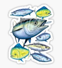Tuna and Mahi Mahi Sticker