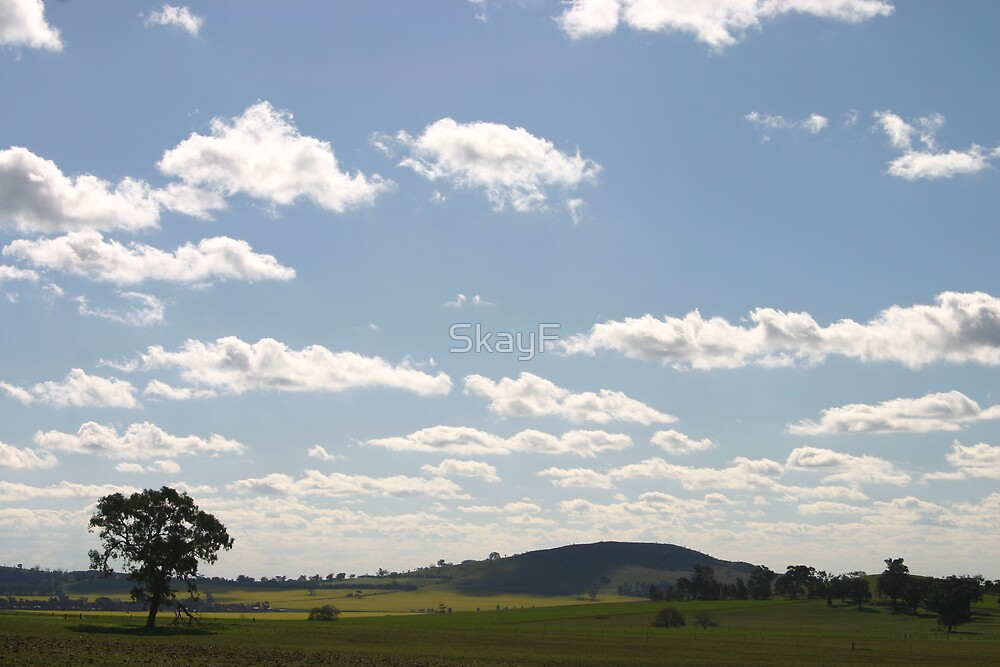 Sky meets the hills, Dookie, Victoria. by Sarah Fridd