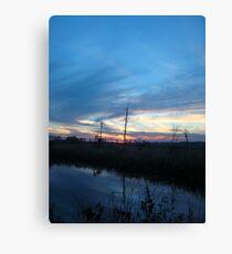 Blue Sky Smilin' at Me (OK so it was sundown) Canvas Print