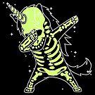 «Dabbing Unicorn Skeleton Shirt Dab Hip Hop efecto de brillo de rayos X» de vomaria