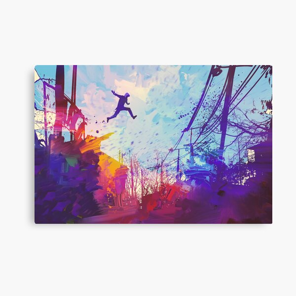 Modern Parkour Free Running Urban Obstacle Course Canvas Print
